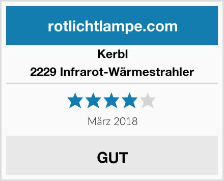 Kerbl 2229 Infrarot-Wärmestrahler Test