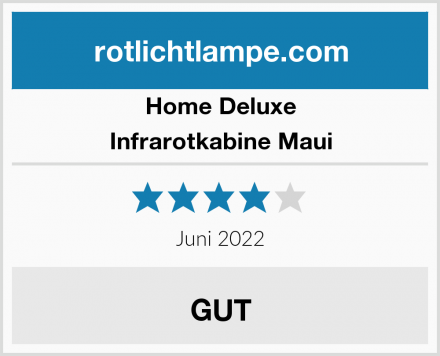Home Deluxe Infrarotkabine Maui Test