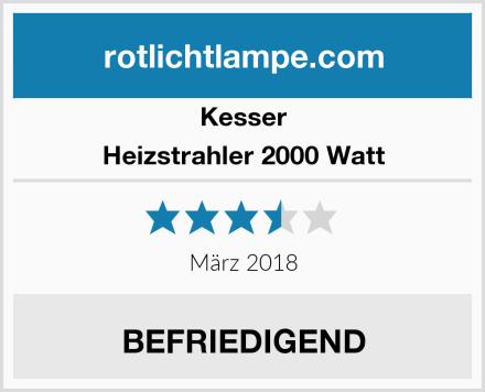 Kesser Heizstrahler 2000 Watt Test