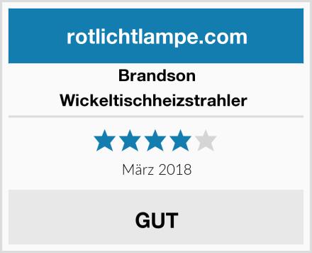 Brandson Wickeltischheizstrahler  Test