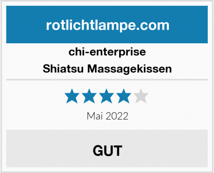 chi-enterprise Shiatsu Massagekissen Test