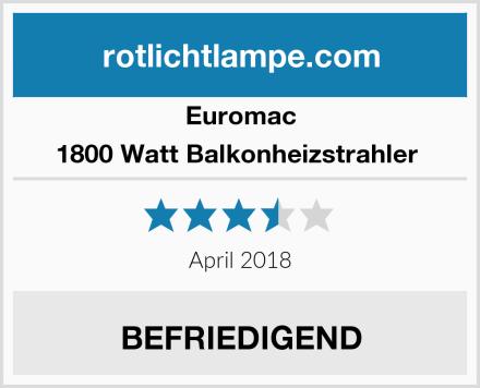 Euromac 1800 Watt Balkonheizstrahler  Test