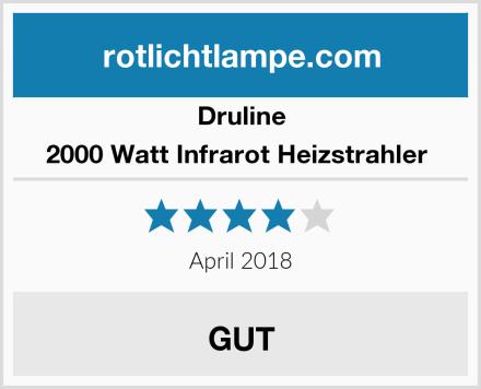 Druline 2000 Watt Infrarot Heizstrahler  Test
